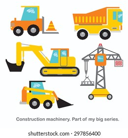 Construction machinery vector set.
