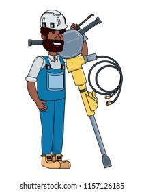 Construction man design