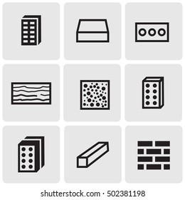Construction materials icons