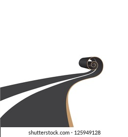 Construction of a new road. Vector illustration.