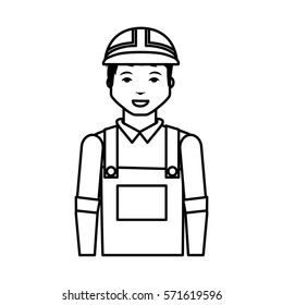Construction professional avatar character vector illustration design