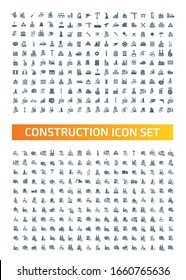 Construction and real estate vector icon set