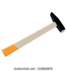 construction and repair tools , hammer , flat teeth