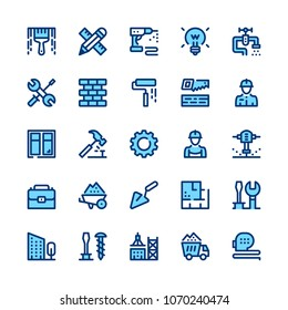 Construction, repair tools line icons set. Modern graphic design concepts, simple symbols, pictograms collection. Minimal thin line design. Premium quality. Pixel perfect. Vector outline icons