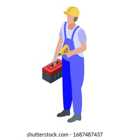 Construction repairman icon. Isometric of construction repairman vector icon for web design isolated on white background