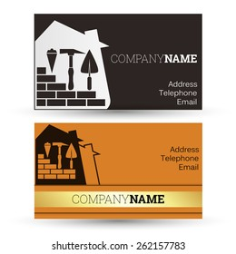 Construction business card images stock photos vectors shutterstock construction and sale of homes business card business colourmoves