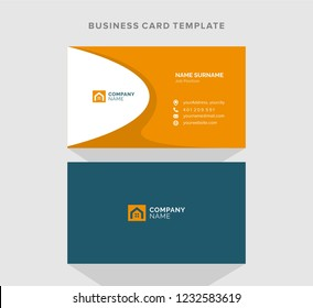 Construction and sale of housing. Business card design. Vector template.