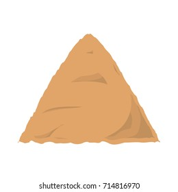 construction sand vector illustration