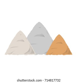 construction sand  vector illustration