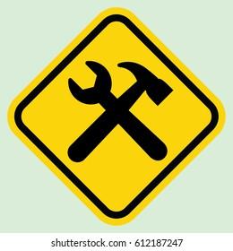 Construction sign gray