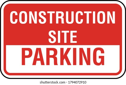 Construction Site Parking vector Sign