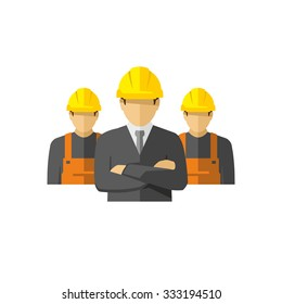 Construction Team Vector