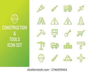 Construction and Tool Color Gradient Icon