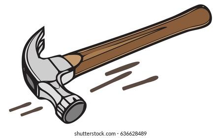 Construction Tool - Hammer - Illustration