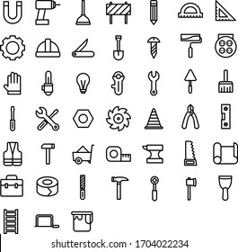 Construction tool icon. Hammer icon. Building icon.