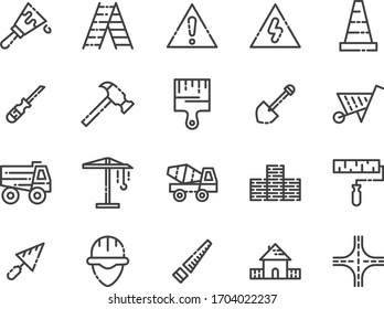 Construction tool icon. Hammer icon. Building icon. Construction icon.