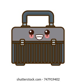 Construction toolbox isolated kawaii cartoon