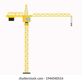 Construction tower crane. vector illustration