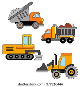 Construction truck vector.