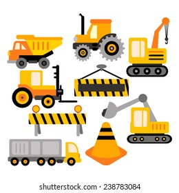 Construction truck vector clip art in yellow and black.