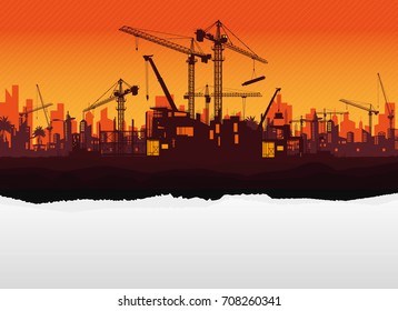 construction vector background.