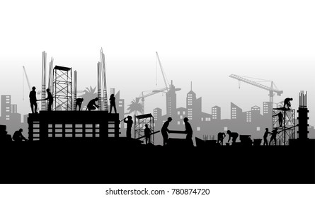 Construction vector background,Construction info graphics, Book Cover Design.