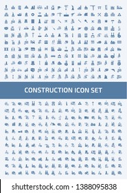 Construction vector icon set design