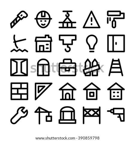 Construction Vector Icons 8 Stock Vector Royalty Free 390859798