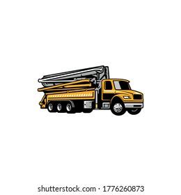 construction vehicle concrete pump truck