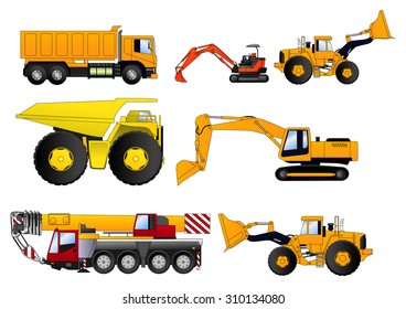 Construction Vehicles Illustration