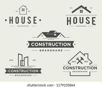 construction vintage logo