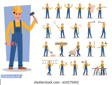 Construction Worker character vector design