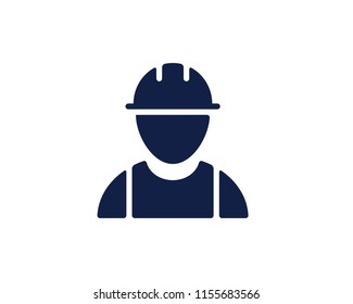 construction worker glyph icon , designed for web and app