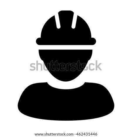 construction worker icon contract labor hard のベクター画像素材