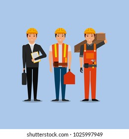 construction workers engineer foreman employee