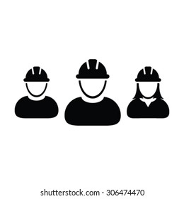 Construction Workers Icon - Vector