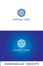 Consult corporation logo template.