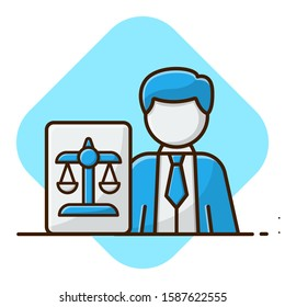 Consultancy and Legal Services. Flat Cartoon Style Suitable for Sticker, Wallpaper, etc.