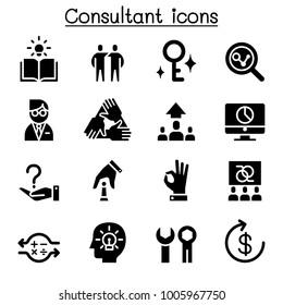 Consultant & Expert icon set