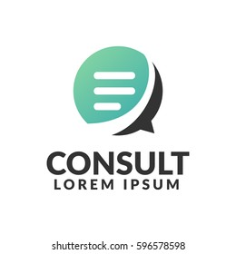 Consulting agency logo. Communication, Speak, Speech Bubble, Talk icon. Chat icon.  Chat bubble icon. Company, corporate, finance, union, corporate, business logo.