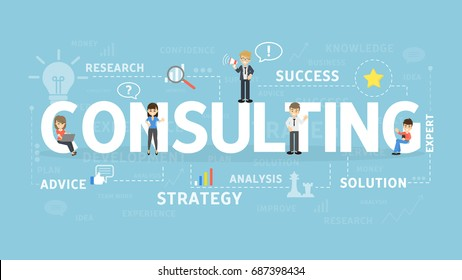 Consulting concept illustration. Idea of business, meeting and teamwork.
