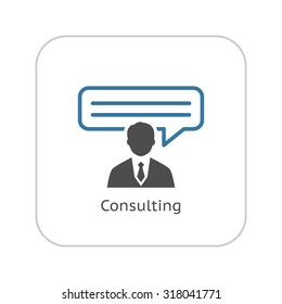 Consulting Icon. Business Concept. Flat Design. Isolated Illustration.