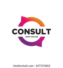 consulting logo design, consult logo, technology icon