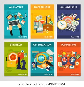 Consulting, Management, SEO, Analytics, Investment and Strategy Concept