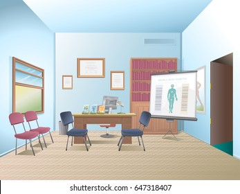 Consulting room. Empty room. Interior medical room.