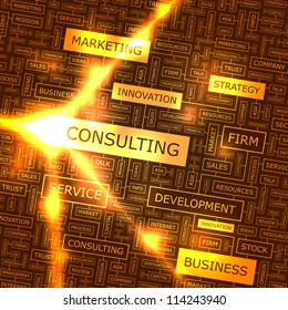 Consulting. Vector illustration for business.