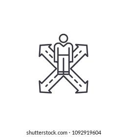 Consumer behavior linear icon concept. Consumer behavior line vector sign, symbol, illustration.