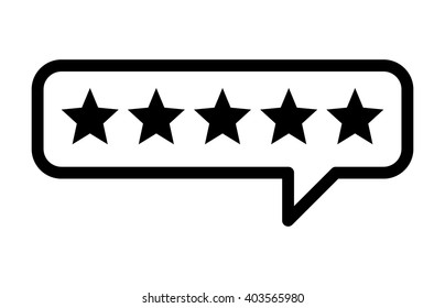 Consumer or customer product rating bubble line art vector icon for apps and websites
