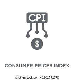Consumer Prices Index (CPI) icon. Consumer Prices Index (CPI) design concept from Consumer Prices Index (CPI) collection. Simple element vector illustration on white background.