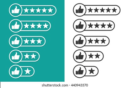 Consumer rating flat icon